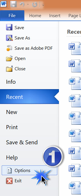 how to change inches to cm in word 2007